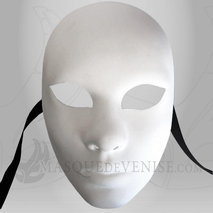 masque visage blanc visage peindre masque de venise brut. Black Bedroom Furniture Sets. Home Design Ideas