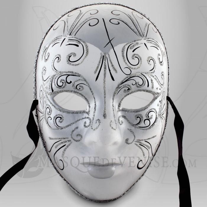 Masque de carnaval masque d cor argent d guisement for Decorer un masque blanc
