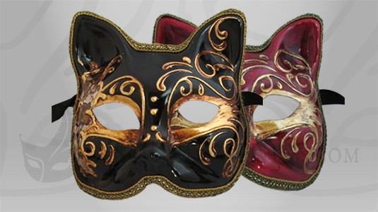 Masque de Venise Chat Arte